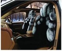 2012 fox fur car seat cushion customize measurement heat  sheepskin seat