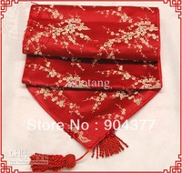 Wedding Reception Red Damask Print Table Runners Long Decorative Coffee Table Cloths Luxury Bed Runner size L200 x W 35cm 1pcs F