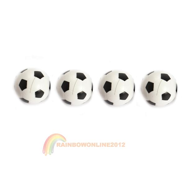 R1B1 Brand New 4pcs 32mm Plastic Soccer Table Foosball Ball Football Fussball(China (Mainland))