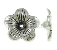 Free shipping!!!Zinc Alloy Bead Cap,2013, Flower, antique silver color plated, nickel, lead & cadmium free, 17.50x17.50x4.50mm