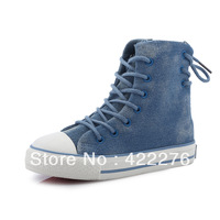 2013 Brand kids shoes  Sneakers children's canvas shoes boys and girls high shoes for spring/autumn  free shipping