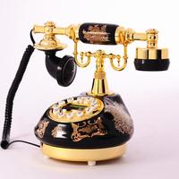 Elegant Ceramic technology phone antique telephone with caller id fashion rotary vintage Dial Retro Telephone