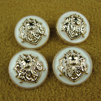 clothing accessories lions metal button badge shield gold overcoat button50pc/lot freeshipping