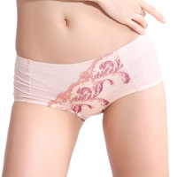 2012 embroidery sexy seamless slim hip panties red antibiotic ultra-thin comfortable female shorts