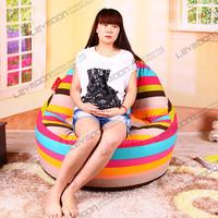 FREE SHIPPING stripedamazon bean bag chairs 100CM diameter bean bag chairs coffee 100% cotton canvas extra large bean bag chairs