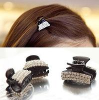 Wholesale Free shipping 2013 Newest 10pcs/lot  mini Crystal Rhinestone Hair Claw Clip