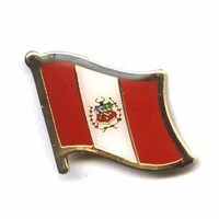 Peru     Free shipping Croatia      16mm flag lapel pins  (350pc/lot)