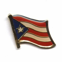 PUERTO RICO      Free shipping Croatia      16mm flag lapel pins  (350pc/lot)