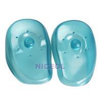 NI5L 2PCS Blue Clear Silicone Ear Cover Hair Dye Shield Protect Salon Color