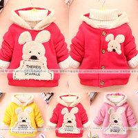 2014 fall autumn new winter baby girls cartoon sweatshirt cotton cardgans coat jackets outwear hoody for children girls