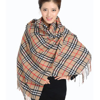 Beautiful quality thickening pure wool scarf cape thermal 2013 female