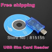 Free shipping 2013 New Arrival USB Sim copier Writer/Copy/Cloner/Backup GSM/CDMA USB Sim Card Reader