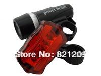 5 Waterproof LED Bike Bicycle Head Light+Rear Flashlight 100% Brand New