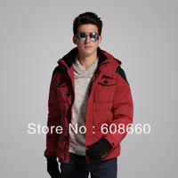 new2013 hot selling down coat male business casual fashion short design thickening mens winter jackets and coats brand free ship