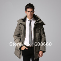 2013 new thickening casual fashion medium-long down coat male with big hood men high quality jacket brand hot selling plus size