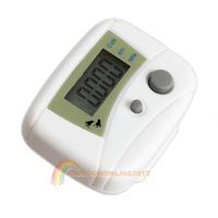 R1B1 LCD Run Step Pedometer Walking Distance Calorie Counter Passometer White
