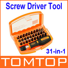 31-in-1 Interchangeable Professional Versatile Hardware Screw Driver Tool Kit with Carry Box Free Shipping wholesale(China (Mainland))