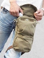 Free shipping Men Small Thickening Canvas Multifunctional Mountaineering Sport Messenger  Leg Bag