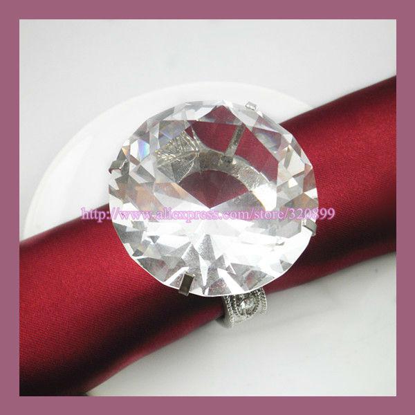 wholesale 200pcs lot k9 wedding embellishment crystal napkin rings