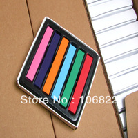 6 Colors Non-toxic Temporary DIY Hair Chalk Color Dye Pastels Salon Kit LKH02-6