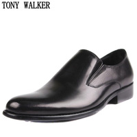 Tonywalker men's genuine leather single shoes fashion formal foot wrapping leather banquet wedding men's leather