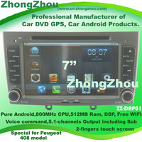 Voice command! Free WIFI! Free shipping! 800MHz CPU 512MB Ram Peugeot 408 android DVD Peugeot 408 GPS Peugeot 408 DVD player