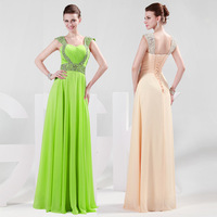 Free Shipping GK Stock Sequins Beaded Ball Gown Evening elegant Prom Party Dress 8 Size US 2~16 CL4446