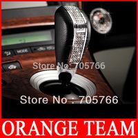 GARSON DAD Gear Shift Knob VIP Leather Crystal Manual Gear Head Auto Wave Rod Head DAD Gear Head Car Accessory Free Shipping