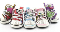 Free shipping! Pet canvas high-top shoes