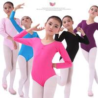 Child cotton long-sleeve dance clothing gymnastics leotard clothes dance clothes