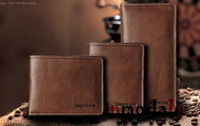 NEW fashion 100% Genuine Leather wallet for men  Brand men's purse high quality  Wholesale and Drop ship free shipping