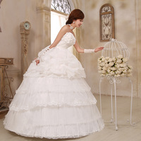 ON Sale Love wedding flower bow bride wedding 2013 sweet princess wedding dress  hot