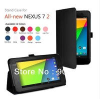 100 pcs/lot New Product Leather Case For Google Nexus 7 II with stand DHL/FEDEX Free Shipping wholesale