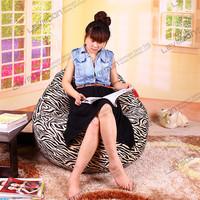 FREE SHIPPING adult bean bags 100CM diameter cool designer bean bags SUPER SOFT VELVET  zebra bean bag chair