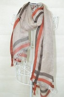 FREE SHIPPING/GREAT QUILITY/Stripe printed/180*110CM/100%VISCOSE SCARF FOR WOMEN FOR 2013 FALL/koreanFISHION STYLES/ BEST SALERS