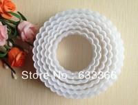 Free shipping 6PCS boxed Circle shape mold sugar Arts set Fondant Cake tools   A140