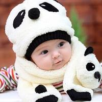 2013Nemohome child cap winter cap cartoon cap set nm121 four colors Children's hat plus scarf suit