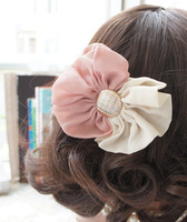 Free Shipping/   Mixed colors fashion cute bow hairpin hairpin headdress flower head