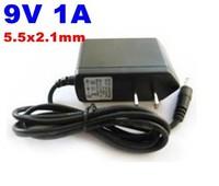 PROMOTION 5pcs lot AC/DC Power Adapter 9V 1A 5.5x2.1mm EU US UK,AU Plug Free Shipping