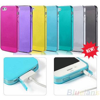1PC New Soft Silicone TPU Matte caso capa para Apple iPhone 4 4S 4G doces colorem Frete Grátis