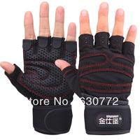 Fitness Gloves Men Women Kingsley Half Finger Sports Gloves Gym Fort exercise dumbbell weightlifting wrist slip