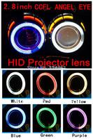 H4 H13 HB3 H1 H7 HB4 9004 9007 8000K 6000K 4300K 2.8'' inch Bi Xenon Lens Projector CCFL Double Angel Eyes 35W HID Slim Ballast