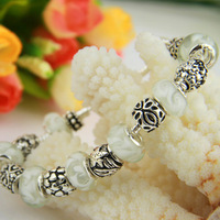 Newest Arrival European Style 925 Silver Charm Bracelet for Women with Murano Glass Beads DIY High Quality Jewelry PA1235