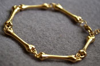 Min.order is $10 (mix order) Free shipping Europe&America Jewelry Simple Personality Metallic Sense Bone Couple Bracelet