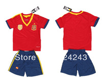 A+++ Hot sales 13/14 Spain home Youth Kids soccer uniforms