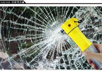 Free DHL/UPS 20pc/lot 4 in 1Multifunctional emergency device , emergency hammer+flashlight+seat belt cutter+Warning lamp