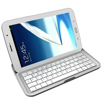 tablet keyboard Aluminum Bluetooth 3.0 Wireless Keyboard Case Stand White for Samsung Galaxy Note 8.0 N5100 N5110