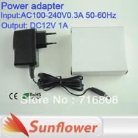 12W Switch LED Power Supply 12V/1A ,AC100-240V input,12v power supply CE&ROHS 2 years warranty!!! Free Shipping China post