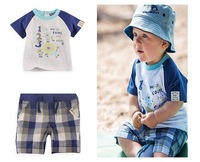 Retail, Baby Boys Set, Letter and Animal Models (Shirt+Shorts)2pcs Casual Set, Baby Boys Summer Set, Free Shipping IN STOCK