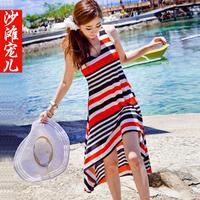 Beach dress vest one-piece dress midguts beach dress female